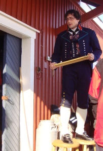 Bendik Halgunset in traditional Norwegian dress